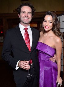 Alberto E. Rodriguez/Getty Images Screenwriter Robert L. Baird and actress Genesis Rodriguez