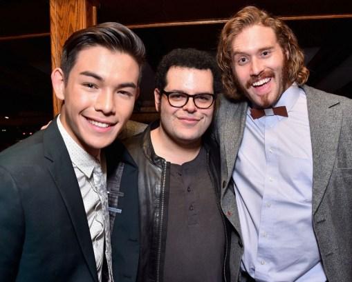 Alberto E. Rodriguez/Getty Images Actors Ryan Potter, Josh Gad and T.J. Miller.