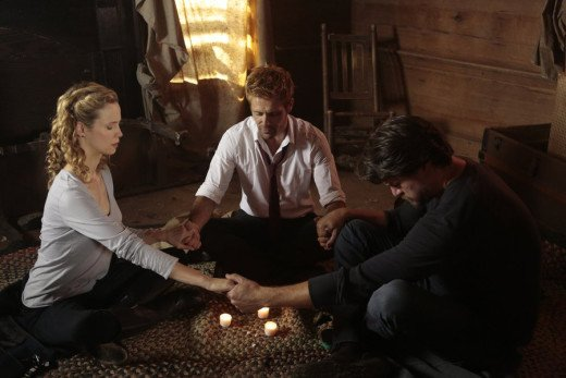 constantine - rage of caliban - claire, Constantine and chas