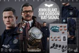 Hot Toys The Dark Knight Rises - Blake and Gordon - accessories collage