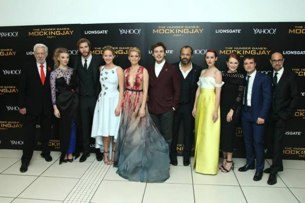 The Hunger Games - Mockingjay premiere - main cast