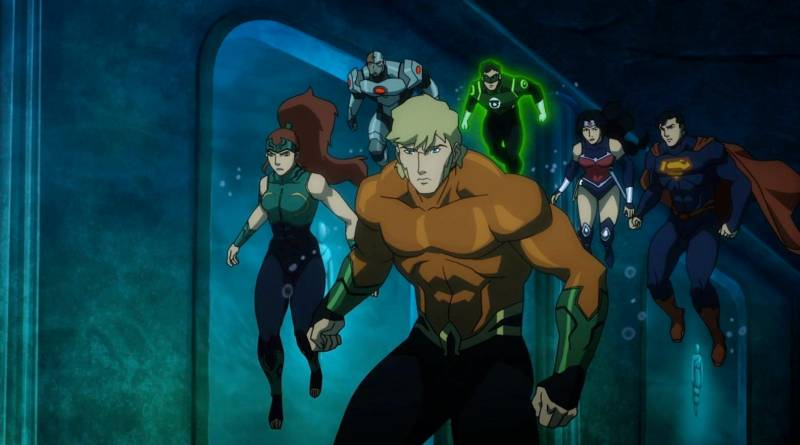 Aquaman, Mera and Justice League - Throne of Atlantis