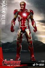 Hot Toys Iron Man Mark XLIII figure - faceplate up