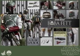 Hot Toys Return of the Jedi Boba Fett figure - all accessories