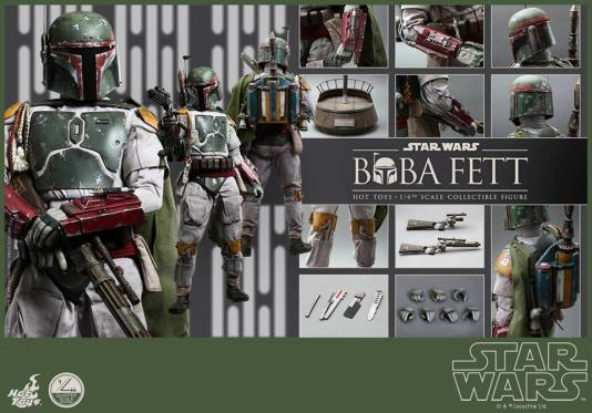 Hot Toys Return of the Jedi Boba Fett figure - full accessories
