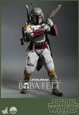 Hot Toys Return of the Jedi Boba Fett figure - gun high