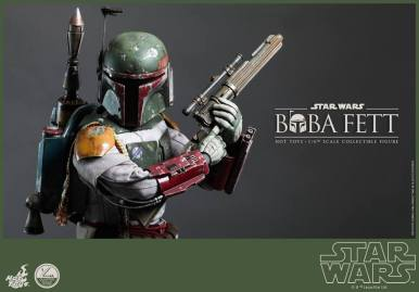 Hot Toys Return of the Jedi Boba Fett figure - tight shot