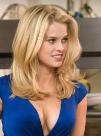Alice-Eve low cut blue dress