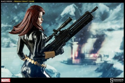 Black Widow - Marvel Premium Format Figure - profile shot with big gun