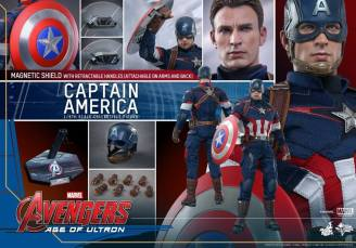 Hot Toys The Avengers Age of Ultron Captain America - collage