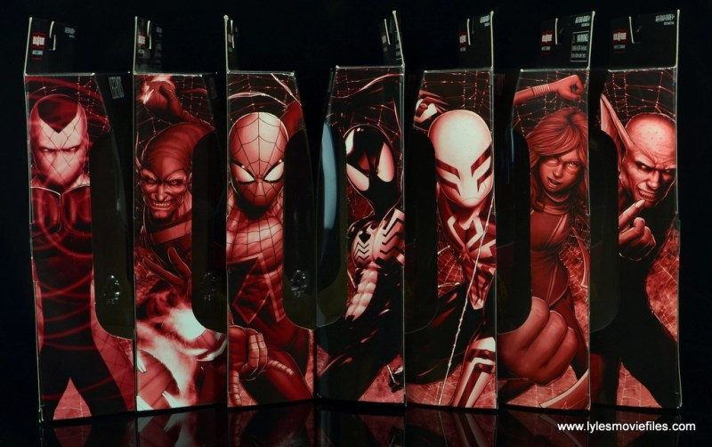 Marvel Legends Build a Figure Sandman wave package portraits