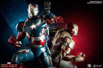 Iron Man Mark 42 maquette - Iron Patriot and Iron Man 42