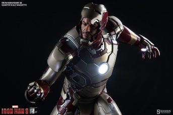 Iron Man Mark 42 maquette - mask up front