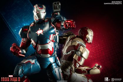 Iron Patriot Quarter Scale Maquette - with Iron Man Mark 42