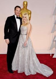 Oscars 2015 Chris Pratt and Felicity Jones