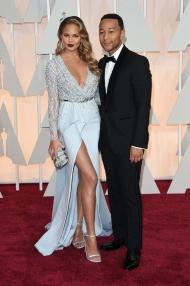 Oscars 2015 - Chrissy Teigen and John Legend
