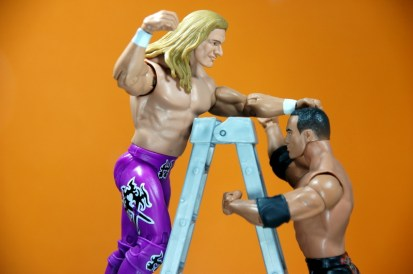Triple H Basic Summerslam Heritage figure - climbing the ladder against The Rock