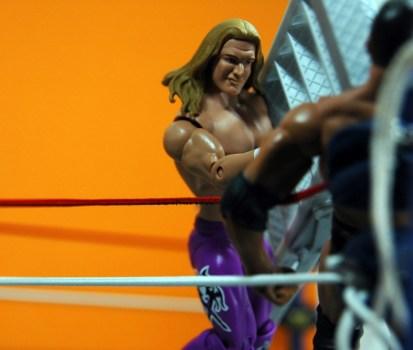 Triple H Basic Summerslam Heritage figure - throwing ladder at Rock
