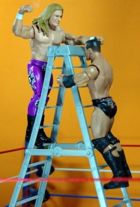 Triple H Basic Summerslam Heritage figure - vertical ladder shot vs Rock