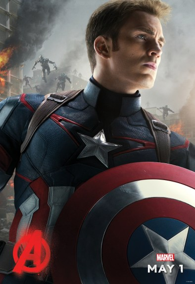 Avengers Age of Ultron - Captain America solo poster