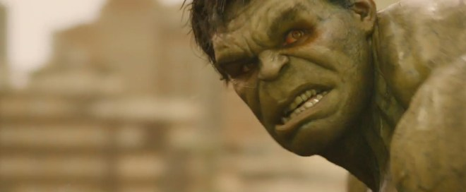 Hulk Avengers Age of Ultron red eyes
