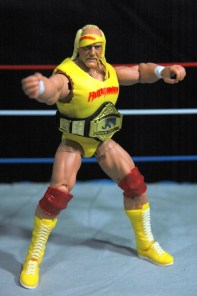 Hulk Hogan Defining Moments figure - posing in ring
