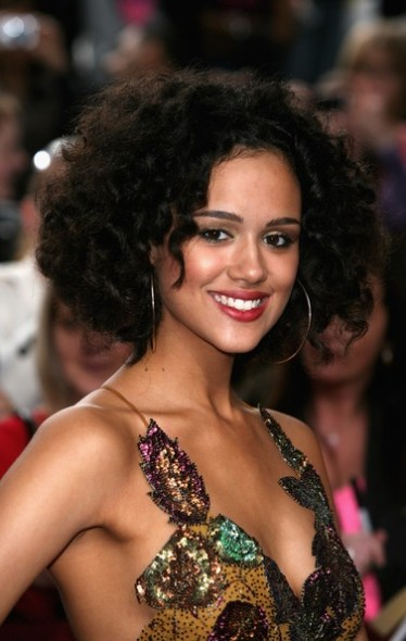 Nathalie Emmanuel shiny dress