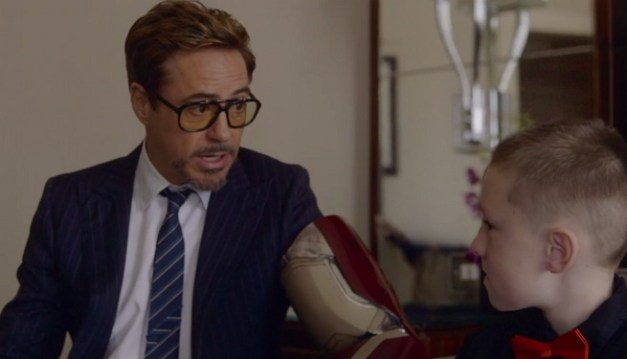 Robert Downey Jr. Iron Man bionic arm presentation