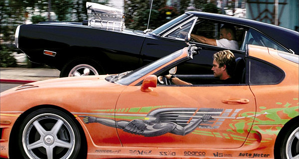 The Fast and The Furious - Brian and Dom race