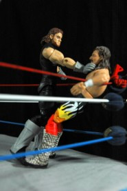 The Undertaker Wrestlemania The Streak - vs Jake the Snake -choking in corner