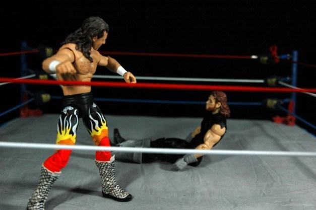 The Undertaker Wrestlemania The Streak - vs Jake the Snake -siting up