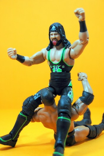 WWE Elite 33 X-Pac -Bronco Buster on The Rock