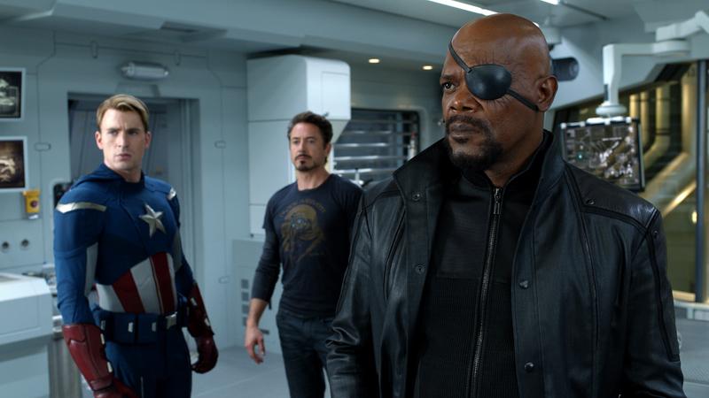 avengers 2012 captain-america-tony-stark-and-nick-fury