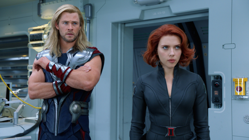 avengers 2012 - thor-and-black-widow