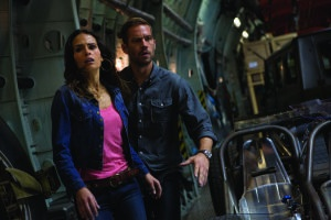 Giles Keyte/Universal Pictures Mia (Jordana Brewster) and Brian (Paul Walker) on the run.