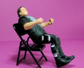Jerry Lawler figure Basic 49 - Mattel - reclining