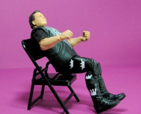 Jerry Lawler figure Basic 49 - Mattel - reclining