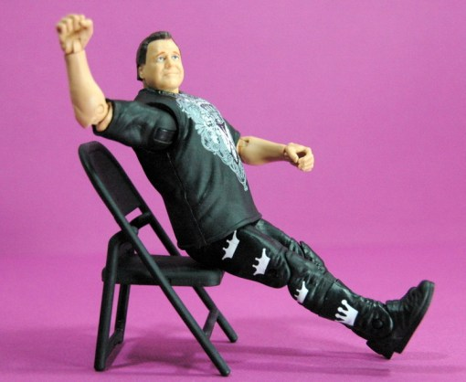 Jerry Lawler figure Basic 49 - Mattel - sitting in chair