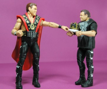 Jerry Lawler figure Basic 49 - Mattel - with Elite 18 figure and crown