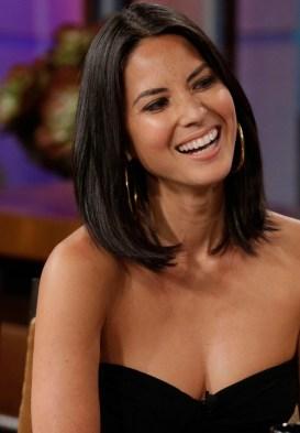 Olivia Munn cleavage black