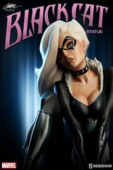 Sideshow - Black Cat - J Scott Campbell statue - pinup pic