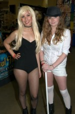 Awesome Con 2015 Day 1 cosplay - Black Canary and Clockwork Orange