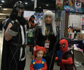 Awesome Con 2015 Day 1 cosplay - Magneto and family