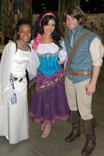 Awesome Con 2015 Day 1 cosplay -Princess Leia, Esmeralda and Flynn