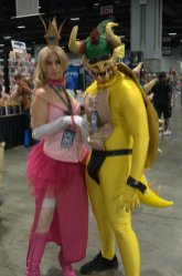 Awesome Con 2015 Day 1 cosplay -Princess Toadstool and Bowser