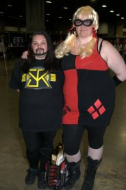 Awesome Con 2015 Day 1 cosplay - Seth Rollins and Harley Quinn