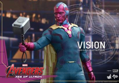 Hot Toys Avengers - Age of Ultron - Vision - holding Mjolner