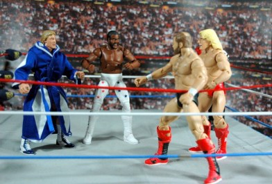 Junkyard Dog figure Mattel WWE Elite 33 - with Paul Orndorff vs Arn Anderson and Ric Flair