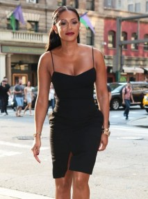 Mel B - black short dress