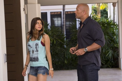 San Andreas - Alexandra Daddario and Dwayne Johnson